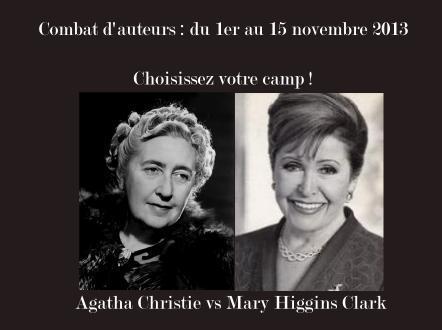 Combat d'auteurs, round 9 : Agatha Christie vs Mary Higgins Clark